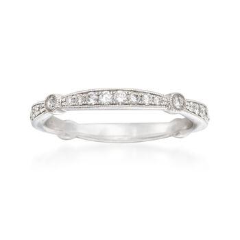 Simon G. .33 ct. t.w. Diamond Wedding Ring in 18kt White Gold, , default