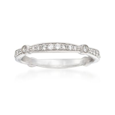 Simon G. .33 ct. t.w. Diamond Wedding Ring in 18kt White Gold, , default