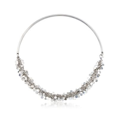 Italian Sterling Silver Confetti Collar Necklace, , default