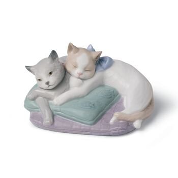"Nao ""Snuggle Cats"" Porcelain Figurine, , default"