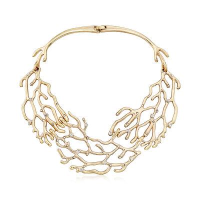 Via Collection Crystal Branch Bib Necklace, , default
