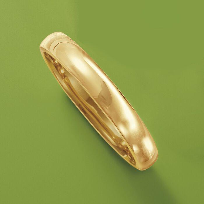 10mm 18kt Gold Over Sterling Silver Bangle Bracelet