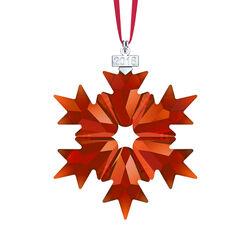 Swarovski Crystal 2018 Annual Red Crystal Snowflake Ornament, , default