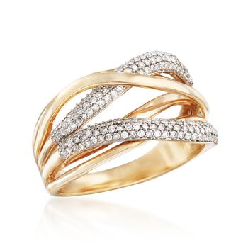.38 ct. t.w. Diamond Highway Ring in 14kt Yellow Gold, , default