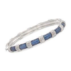 """1.10 ct. t.w. Iolite Bangle Bracelet in Sterling Silver. 7"""", , default"""