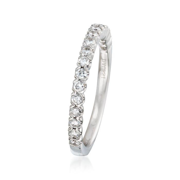 Henri Daussi .45 ct. t.w. Diamond Wedding Ring in 18kt White Gold