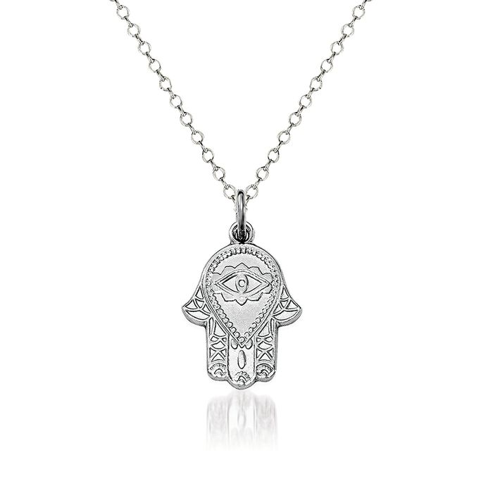 """Sterling Silver Chamseh Pendant Necklace. 18"""", , default"""