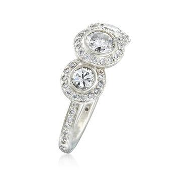 C. 2000 Vintage Ritani 1.30 ct. t.w. Diamond Ring in Platinum. Size 4.5