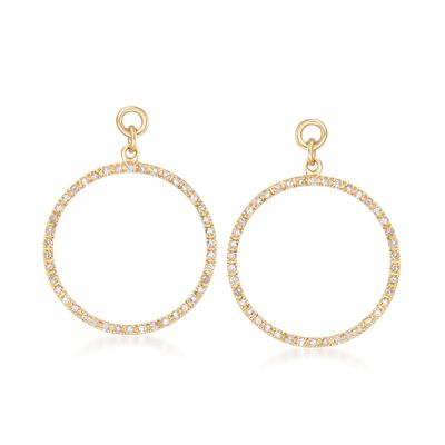 .25 ct. t.w. Diamond Open Circle Earring Jackets in 14kt Gold Over Sterling, , default