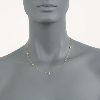 "Roberto Coin .23 ct. t.w. Diamond Station Necklace in 18kt Yellow Gold. 16"", , default"