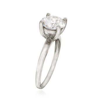 2.00 Carat CZ Solitaire Ring in 14kt White Gold, , default