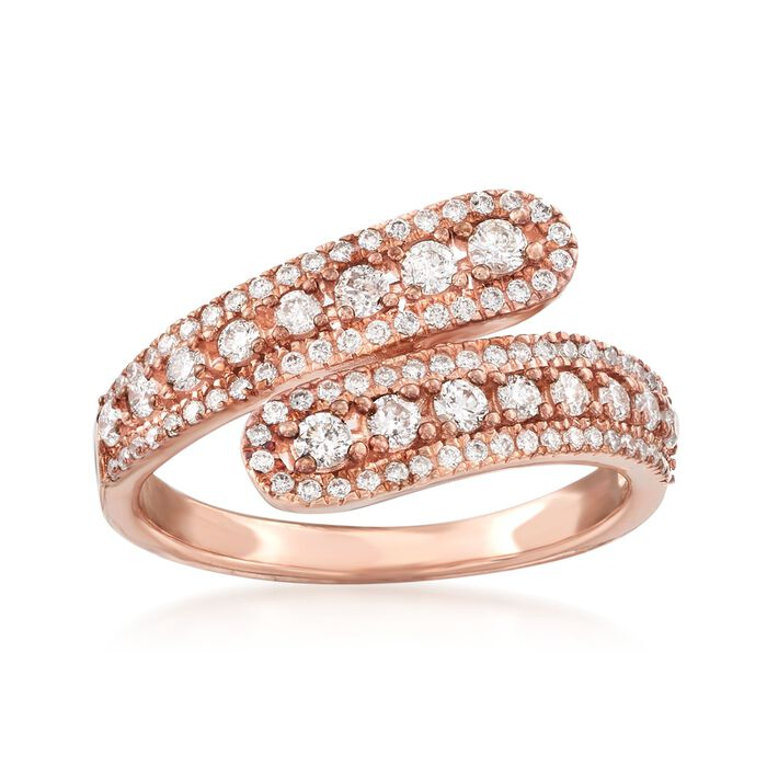 .65 ct. t.w. Diamond Bypass Ring in 14kt Rose Gold