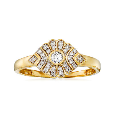 .15 ct. t.w. Diamond Marquise-Shaped Ring in 14kt Yellow Gold