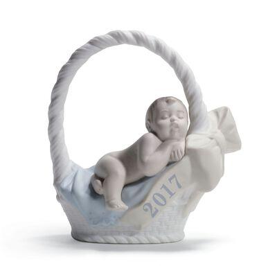 "Lladro ""Born in 2017"" Porcelain Figurine - Fair Skin Boy, , default"