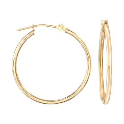 15mm 14kt Yellow Gold Small Hoop Earrings