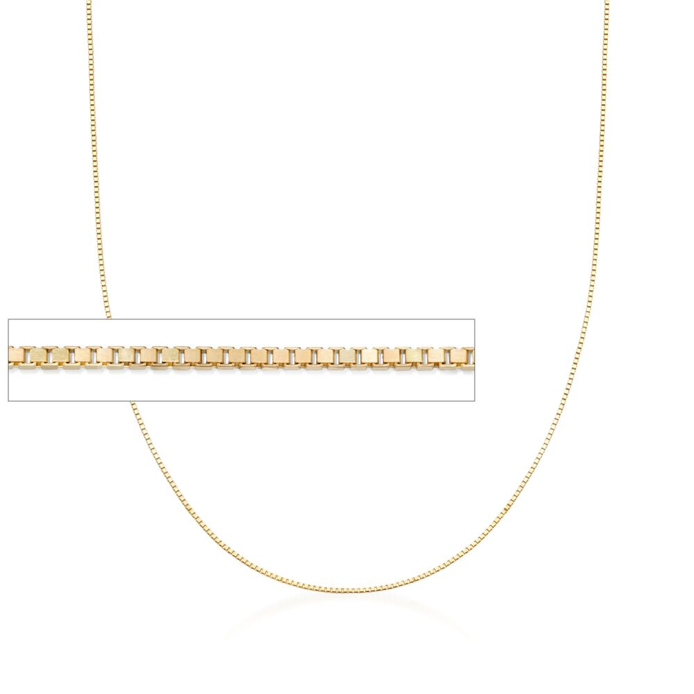 f6e981523141c .8mm 14kt Yellow Gold Adjustable Box Chain Necklace. 22 quot