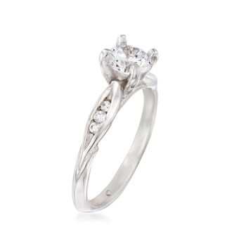 Gabriel Designs .10 ct. t.w. Diamond Engagement Ring Setting in 14kt White Gold, , default