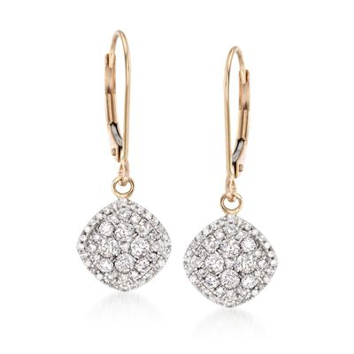 .75 ct. t.w. Diamond Drop Earrings in 14kt Yellow Gold, , default