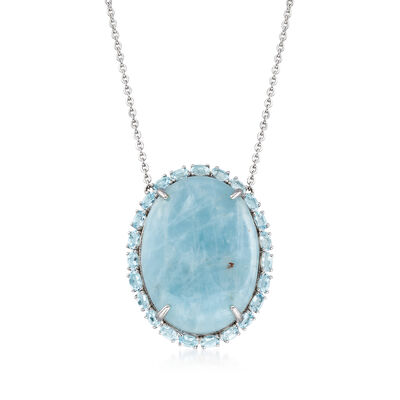35.75 ct. t.w. Aquamarine Necklace in Sterling Silver