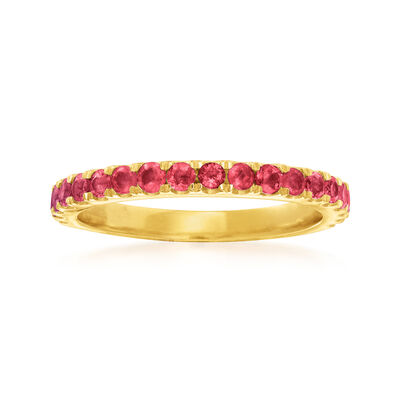 .70 ct. t.w. Ruby Ring in 18kt Gold Over Sterling