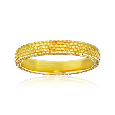 Men's Wedding Ring in 14kt Yellow Gold