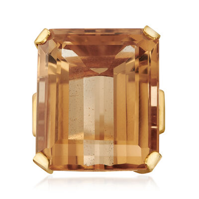 C. 1970 Vintage 51.50 Carat Citrine Ring in 14kt Yellow Gold, , default