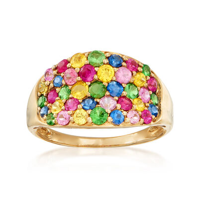 2.50 ct. t.w. Multi-Gemstone Ring in 14kt Yellow Gold, , default