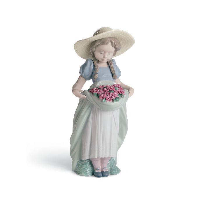 """Lladro """"Beautiful Blossoms -Carnations"""" Special Edition Porcelain Figurine"""