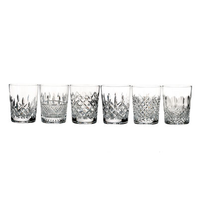 "Waterford Crystal ""Connoisseur"" Set of 6 Heritage Double Old-Fashioned Glasses, , default"