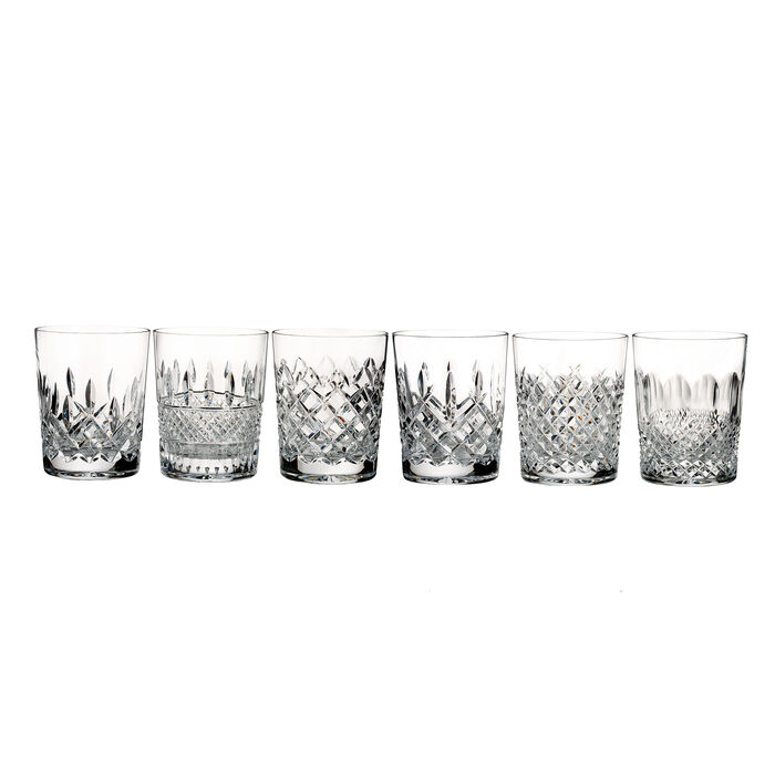 """Waterford Crystal """"Connoisseur"""" Set of 6 Heritage Double Old-Fashioned Glasses"""