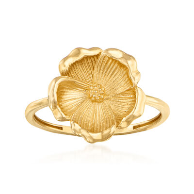 14kt Yellow Gold Flower Ring