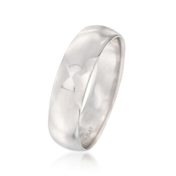 Men's 6mm Platinum Wedding Ring, , default
