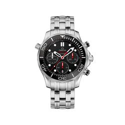 Omega Seamaster Diver Men's 44mm Stainless Steel Watch With Black Dial, , default