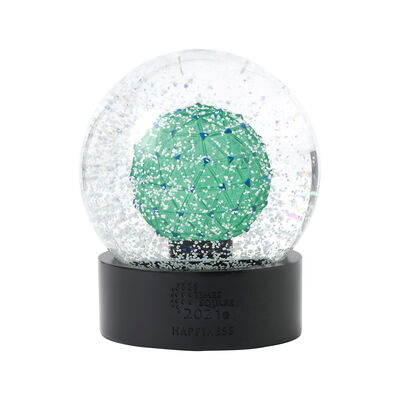 Waterford Crystal 2021 Times Square Gift of Happiness Snow Globe