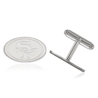 Sterling Silver NFL San Francisco 49ers Cuff Links, , default