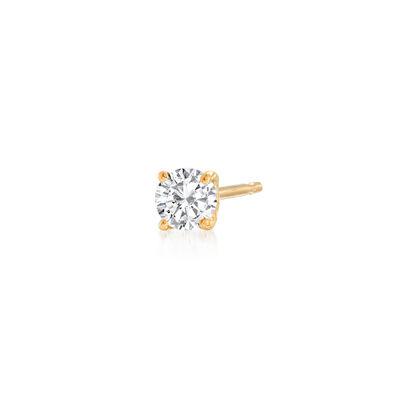 .12 Carat Diamond Single Stud Earring in 14kt Yellow Gold