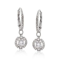 "Swarovski Crystal ""Sparkling Dance"" Floating Crystal Drop Earrings in Silvertone, , default"
