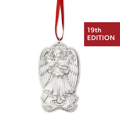 """Wallace 2019 Annual """"Grande Baroque"""" Sterling Silver Angel Ornament - 19th Edition, , default"""