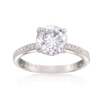 C. 2000 Vintage 2.26 ct. t.w. Certified Diamond Ring in Platinum. Size 4.5, , default