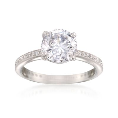 C. 2000 Vintage 2.26 ct. t.w. Certified Diamond Ring in Platinum, , default