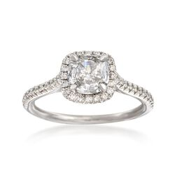 Henri Daussi 1.18 ct. t.w. Certified Diamond Engagement Ring in 18kt White Gold, , default