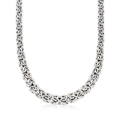 Byzantine Necklace in Sterling Silver with Magnetic Clasp, , default