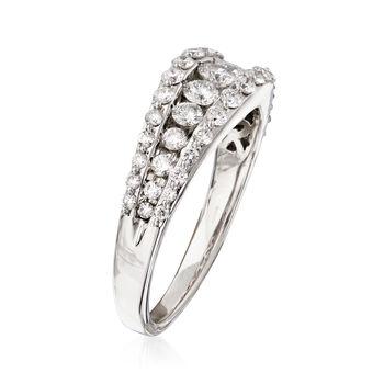 1.00 ct. t.w. Diamond Three-Row Ring in 14kt White Gold