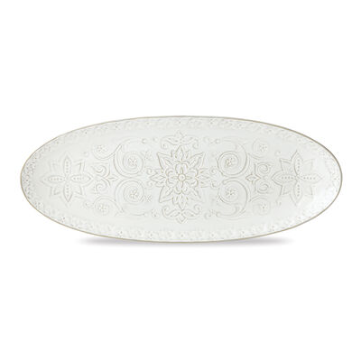 "Lenox ""Global Tapestry"" White Porcelain Oval Serving Platter, , default"