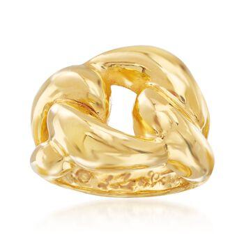 Italian 14kt Yellow Gold Love Knot Ring, , default