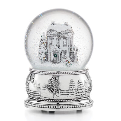 "Reed & Barton ""Winter Traditions"" Farmhouse Snow Globe"
