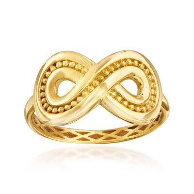 Italian 14kt Yellow Gold Infinity Ring
