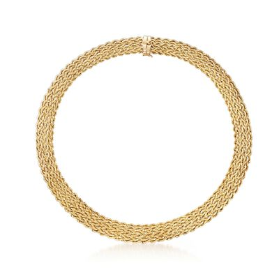 14kt Yellow Gold Multi-Row Rope Collar Necklace, , default