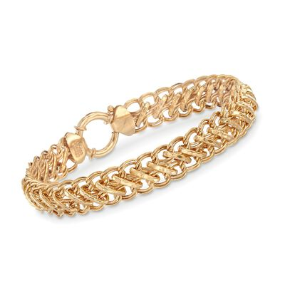 14kt Gold Over Sterling Multi-Link Bracelet, , default
