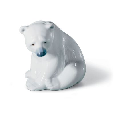 "Lladro ""Seated Polar Bear"" Porcelain Figurine"